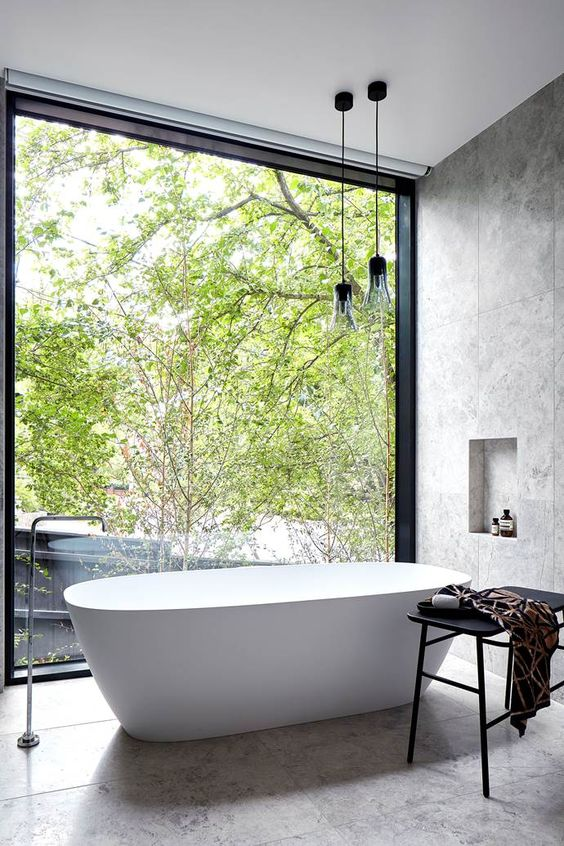 Australian House & Garden's annual Top 50 Rooms competition showcases a range of rooms by some of Australia's best architects and interior designers. Here are all the beautiful bathrooms and laundries that made it into the line-up this year.