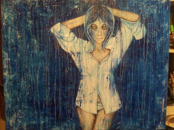 Liberty. original painting by Pili Tejedo