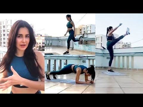 Katrina Kaif Hard Workout At Home Without Equipment In Lockdown Period Youtube In 2020 Hard Workout At Home Workouts Katrina Kaif