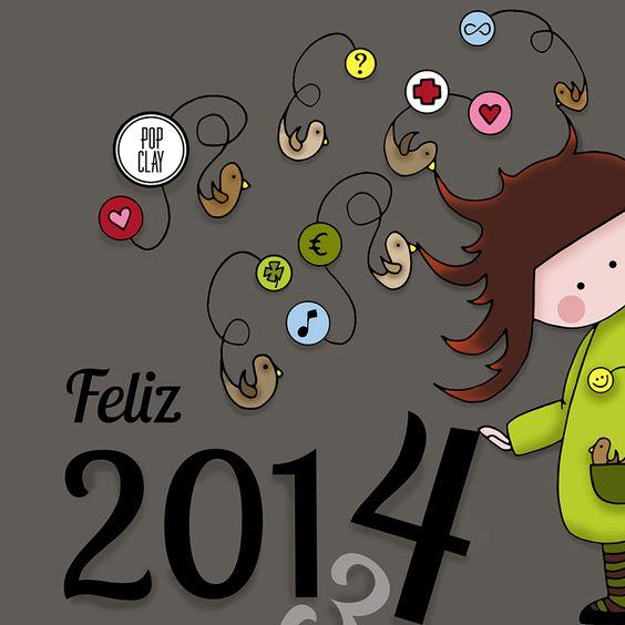 6º teaser: ilustração com tema de Feliz Ano Novo de 2014.