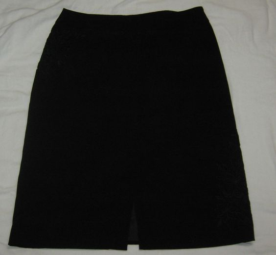 New Look Cut Work Lined Pencil Skirt Black Size 14 #CL83 #NewLook ...