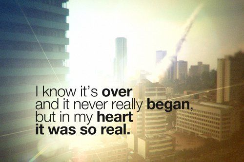 and it never really began..
