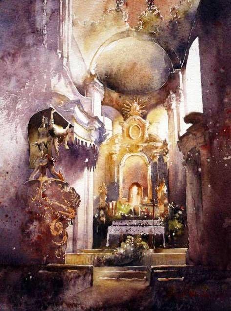 Очаровательные и завораживающие акварели польского художника Michalа Orlowski - МирТесен