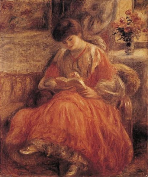 ✉ Biblio Beauties ✉ paintings of women reading letters & books - Pierre-Auguste Renoir | Madame Misia Godebska Natanson Sert, 1904: