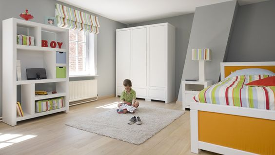 kids room grey + white