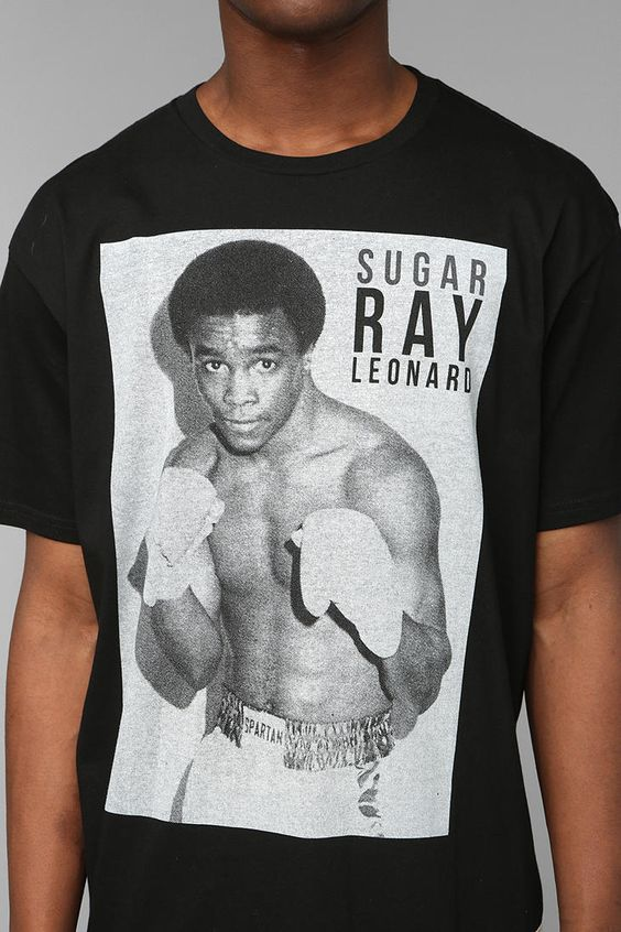 Starting Lineup Sugar Ray Leonard Tee