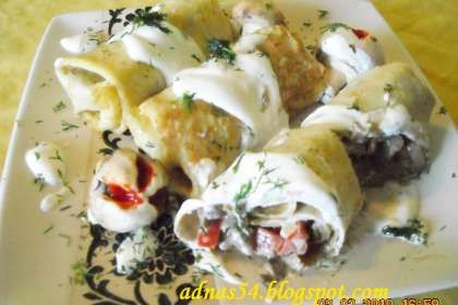 Clatite cu ciuperci la cuptor (Recipe in Romanian) / Oven-baked crepes with mushrooms: Cuptor Recipe, Ciuperci La, Culture Lands, Mushroom, Baked, Cuptor Oven, Cuptor Mancaruri