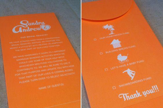 Wedding Registry Invitation: Money, Charity And Fun On Pinterest
