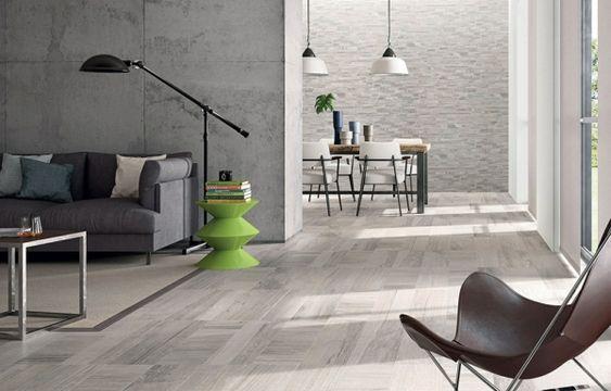 Bodenbelag wohnzimmer ~ Wohnzimmer design boden holzoptik fliesen grüner beistelltisch