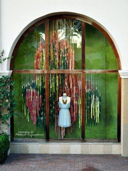 Anthropologie Spring 2012 window displays