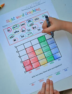 ABC center...Sight words a great way to integrate into math, I know a few elementary school teachers that might like this.