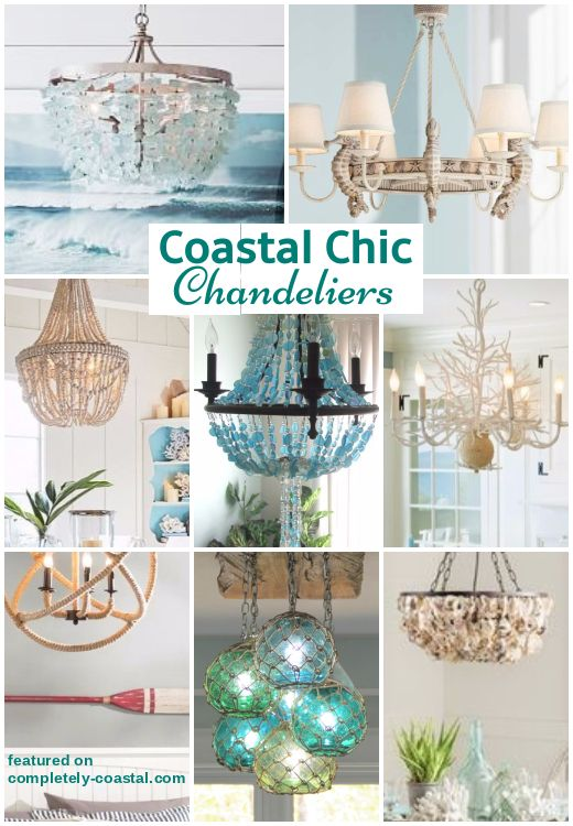 Grand Chandeliers For Coastal Style Living Coastal Dining Room