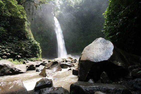 The Exotic and Natural View at Nungnung Waterfall