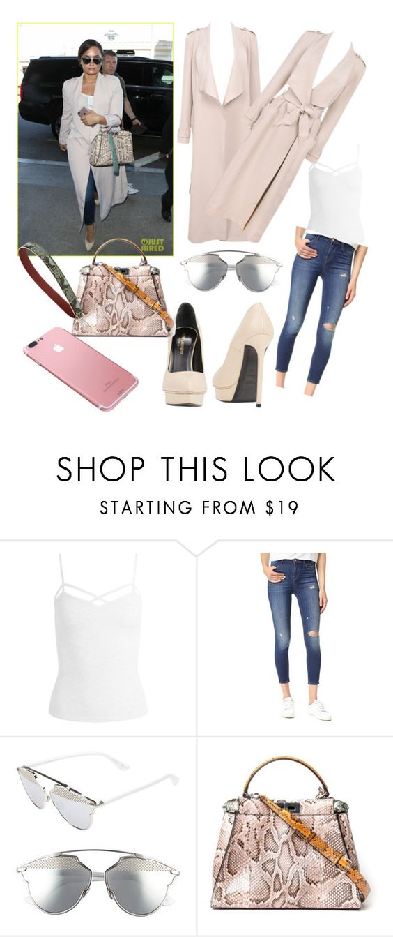 """""""Demi style"""" by madonna-lover ❤ liked on Polyvore featuring Sans Souci, J Brand, Christian Dior and Kirna Zabête"""
