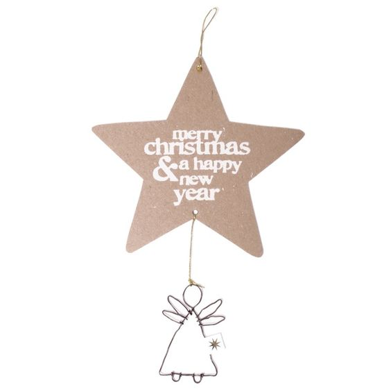 """Winter Engelspost """"Merry Christmas & a happy New Year"""""""