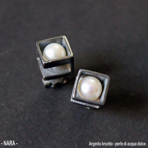 Earrings - Silver, pearls  CoRo