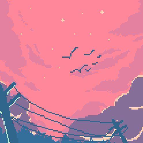 9 Twitter Pixel Art Landscape Pixel Art Background Aesthetic