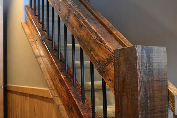 Rustic Mountian Stair Railings: Rustic Stairs, Iron Staircase And Wood Steel On Pinterest