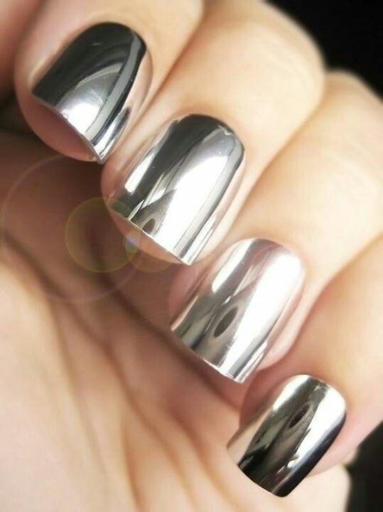 Polish mirror nail polish and nails on pinterest for Mirror nail polish