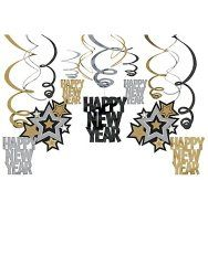 New Year's Hanging Swirl Decorations - $18.80 #2015NewYear