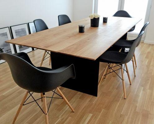 Esstisch Eiche Modern Schweizer Kante Stahlwangen Esstisch Eiche Esstisch Tisch
