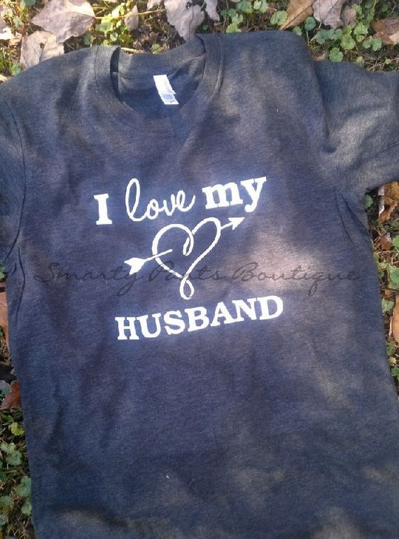 Custom I Love My Husband Triblend Tee by SmartyPantsBoutique, $15.00