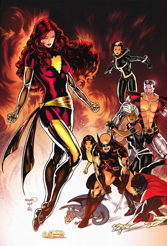 1970s/1980s-era X-Men by Paul Renaud.
