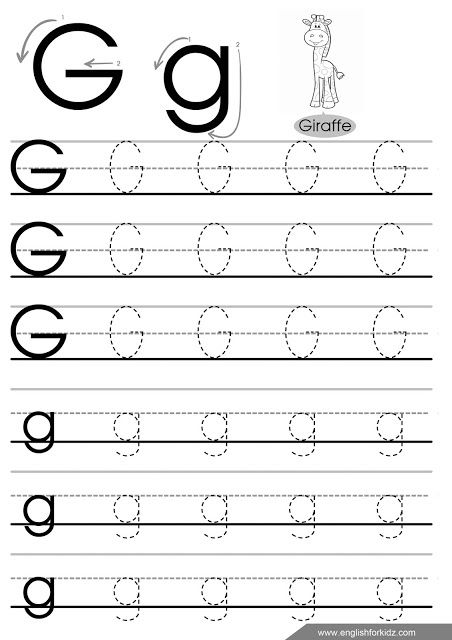 Letter G Tracing Paper Alphabet Tracing Worksheets Letter Tracing Worksheets Alphabet Writing Worksheets