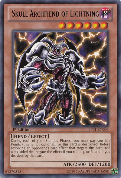 Skull Archfiend of Lightning Yu-gi-oh! TCG Fiend/Effect Monster Card