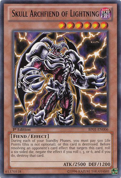 Skull archfiend of lightning cards skulls and
