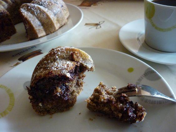 Napfkuchen mit Stevia Streusüße – Schmelzschokolade