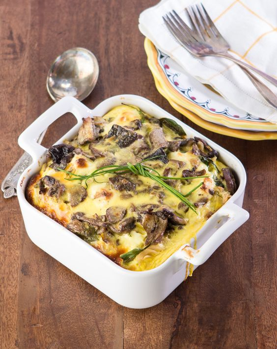Spinach Noodle Kugel - a dairy side dish or breakfast or lunch or...