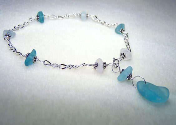 Seaglass+Jewelry++Beach+Glass+Jewelry++Sea+Glass+by+BikerBlingCa