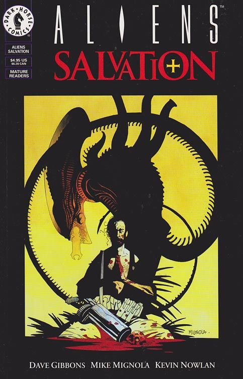 Aliens: Salvation Prestige format   Mike Mignola cover art