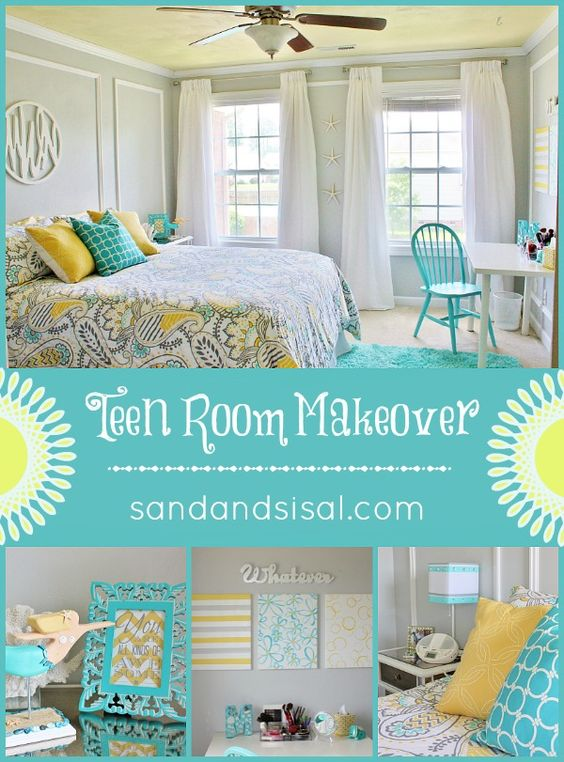 Teen Room Makeover Turquoise Guest Rooms And Teen Room