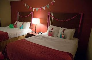 for a much older girl, a sleep over party at a hotel! such a fun idea!