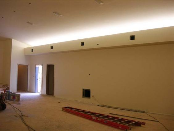 Indirect Lighting Retro Fit Cove Lighting With Soffit Box