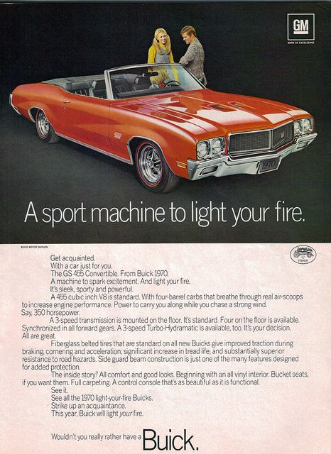 1970 Buick GS 455 Convertible  by coconv, via Flickr