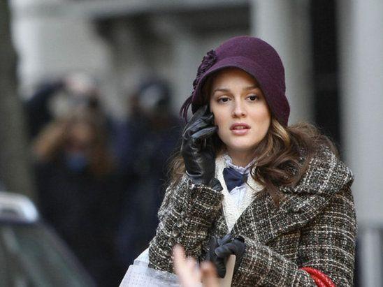 Cloche Hat -- Leighton Meester