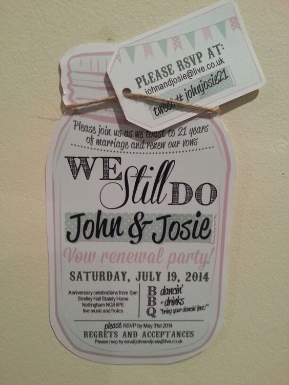 Our vow renewal invites :-)