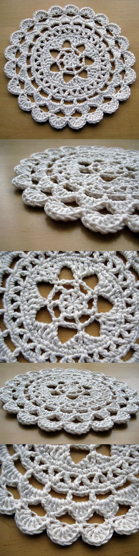 Pretty Passion Flower Doily – free pattern in dk weight yarn
