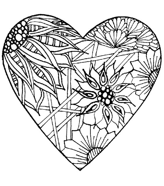 Megenta coloring pages ~ Magenta Zentangle Heart Cling Stamps | Craft work ...