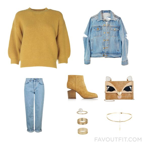 Closet Update Including 3.1 Phillip Lim Sweater Jean Jacket Topshop Jeans And High Heel Boots From October 2016 #outfit #look