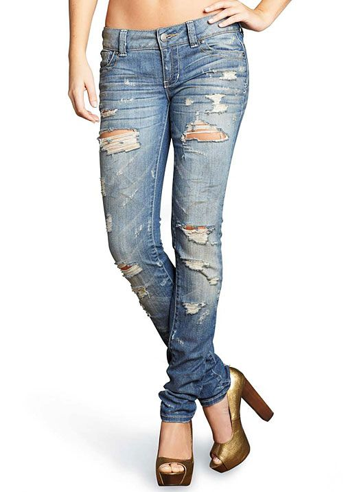 Standards & Practices Dusty Destructed Stretch Skinny Jean