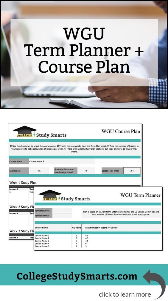 Create The Perfect Wgu Study Plan How To Plan Types Of