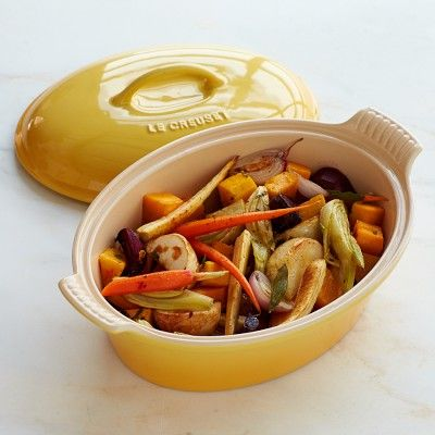 Le Creuset Heritage Stoneware Oval Covered Casserole #williamssonoma