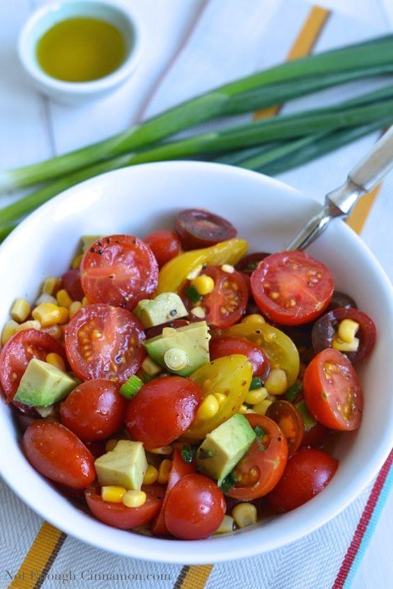 Tomato, Corn and Avocado Salad - NotEnoughCinnamon.com
