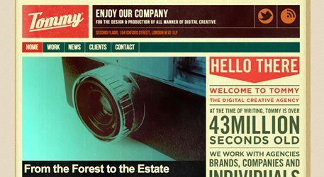 「retro color website ui」