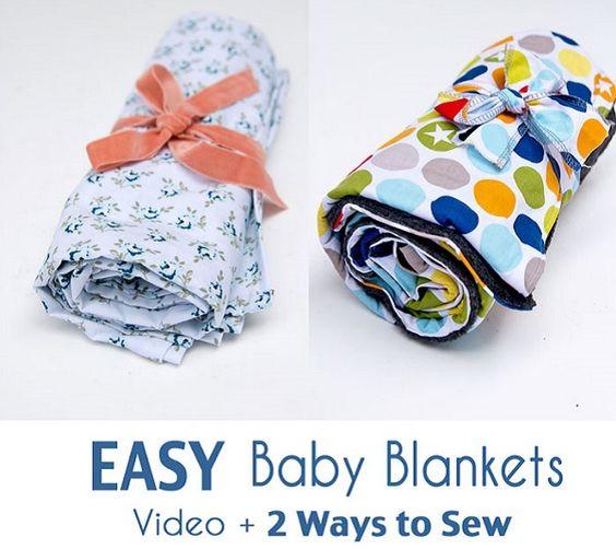 Tutorial: Easy baby blanket 2 ways