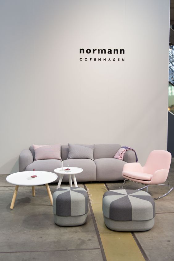 Northmodern Furniture Fair | Spring 2015 | Normann Copenhagen | Era Lounge chair, Tablo table, Circus pouf and Swell Sofa: